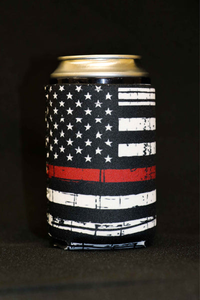 Thin Red Line Short Can Cooler(Pack of 5)