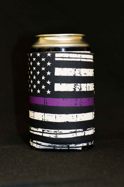 Thin Purple Line Short Can Cooler(Pack of 5)