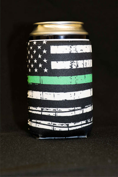 Thin Green Line Short Can Cooler(Pack of 5)