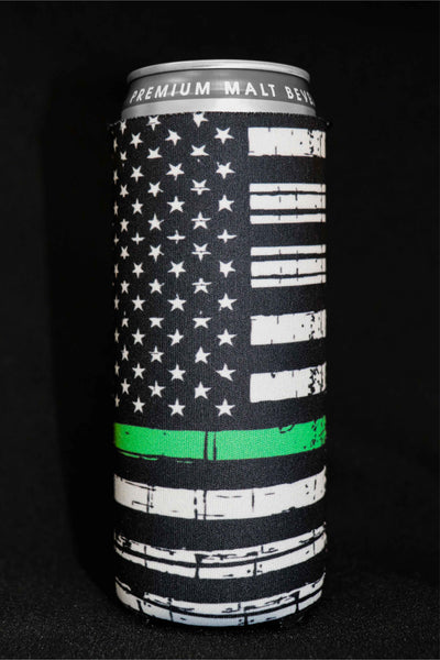 Thin Green Line Tall Can Cooler(Pack of 5)