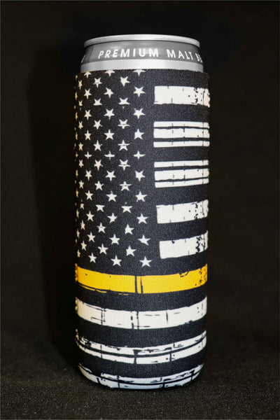 Thin Yellow Line Tall Can Cooler(Pack of 5)