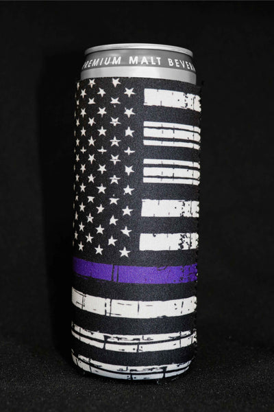 Thin Blue Line Tall Can Cooler(Pack of 5)