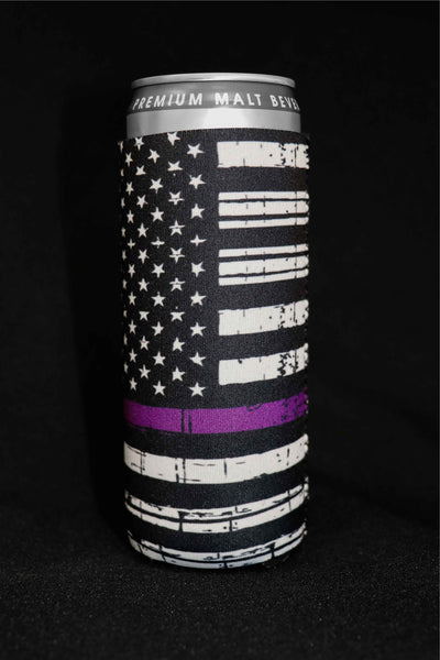 Thin Purple Line Tall Can Cooler(Pack of 5)