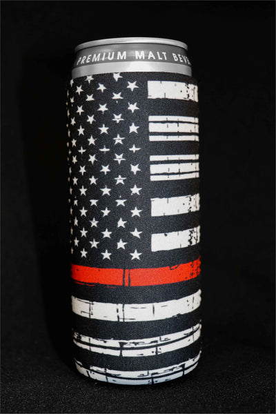 Thin Red Line Tall Can Cooler(Pack of 5)