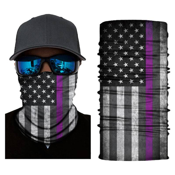 (X5003) USA Flag Gaiter - Thin Purple Line