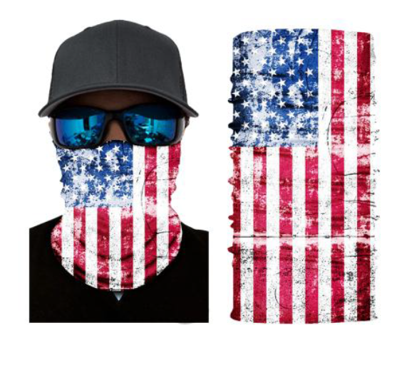 (S083) USA Flag Gaiter