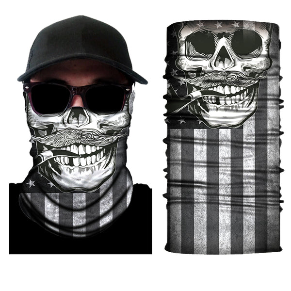 (S115) Skull Face with pipe Gaiter
