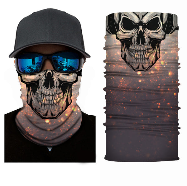 (S018) Skull Face Gaiter with headphones