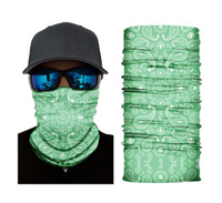 (S203) Traditional Bandanna Design Gaiter - Light Green