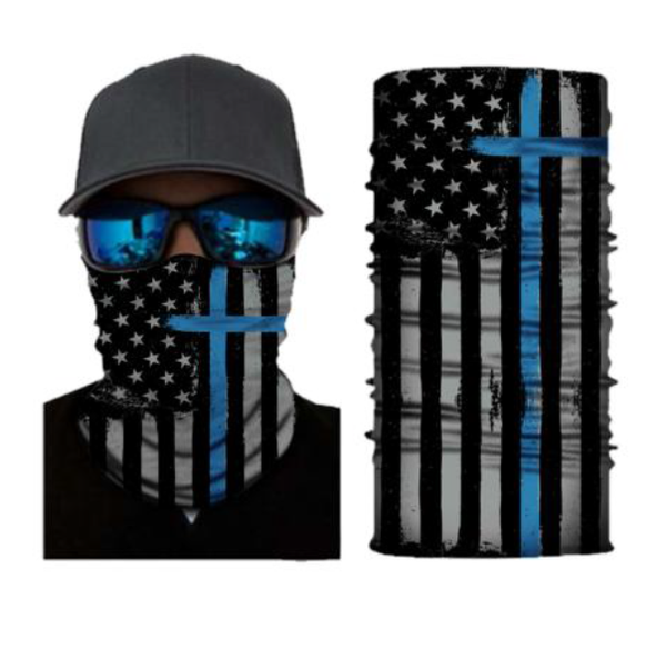 (S240) Blue Cross/USA Flag Gaiter