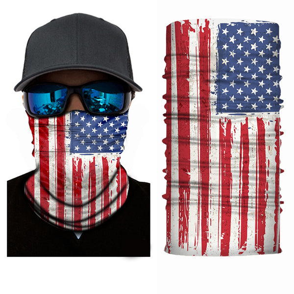 (FL-S025) USA Flag Gaiter (FLEECE LINED)