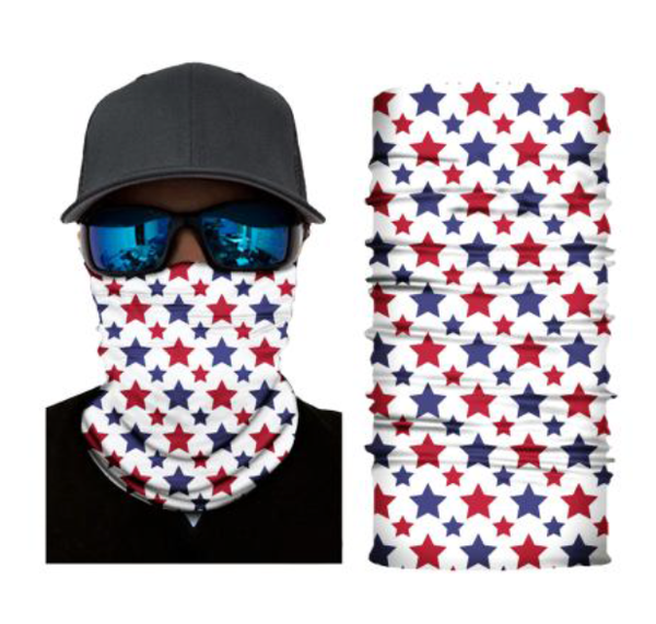 (S273) Blue/Red Stars Gaiter