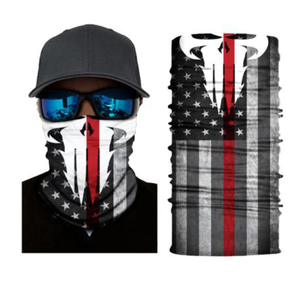 (S296) Thin Red Line/USA Flag/Punisher Gaiter