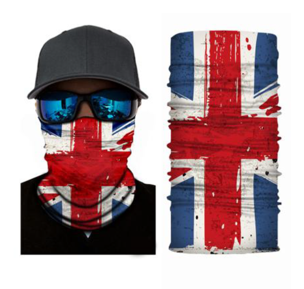 (S302) United Kingdom/Union Jack Flag Gaiter