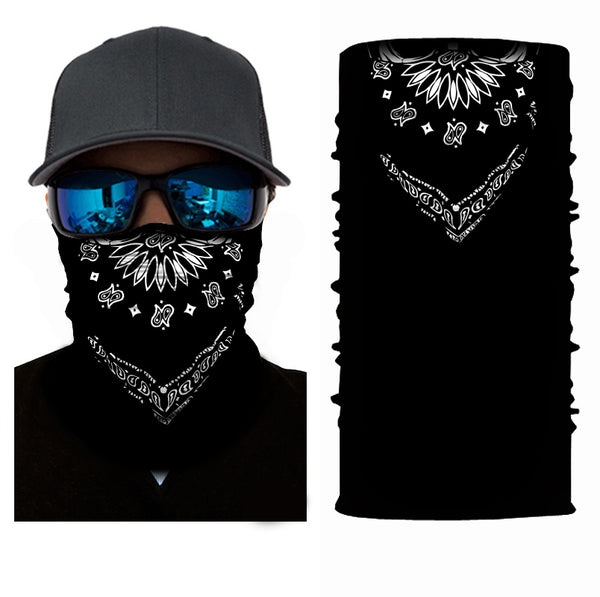 (S039) Black Design Gaiter