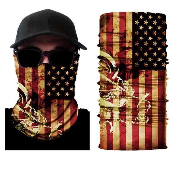 (S003) USA Flag with Motorcycle Gaiter