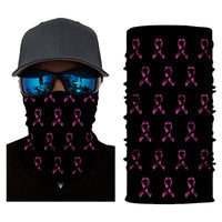 (S704) Multiple Pink Ribbons Gaiter