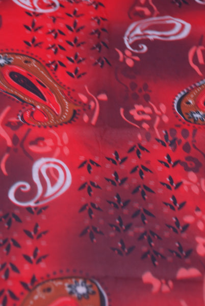 (X5031) Red Paisley Pattern Gaiter