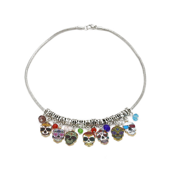 Multiple Skulls Necklace