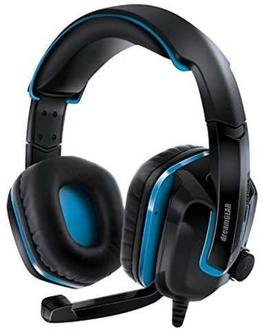 Headset: DreamGear DGPS4-6447 GRX-440 High Perfomance Gaming Headset For Playstation 4 with Boom Microphone Foldable (Black/ Blue)
