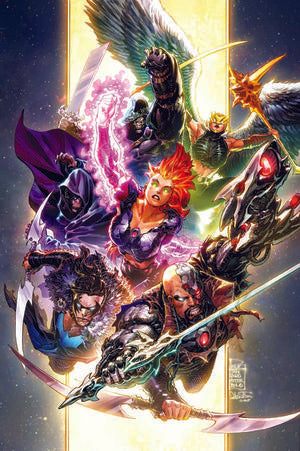 JUSTICE LEAGUE #57 COVER B PHILIP TAN VARIANT (DARK NIGHTS DEATH METAL)
