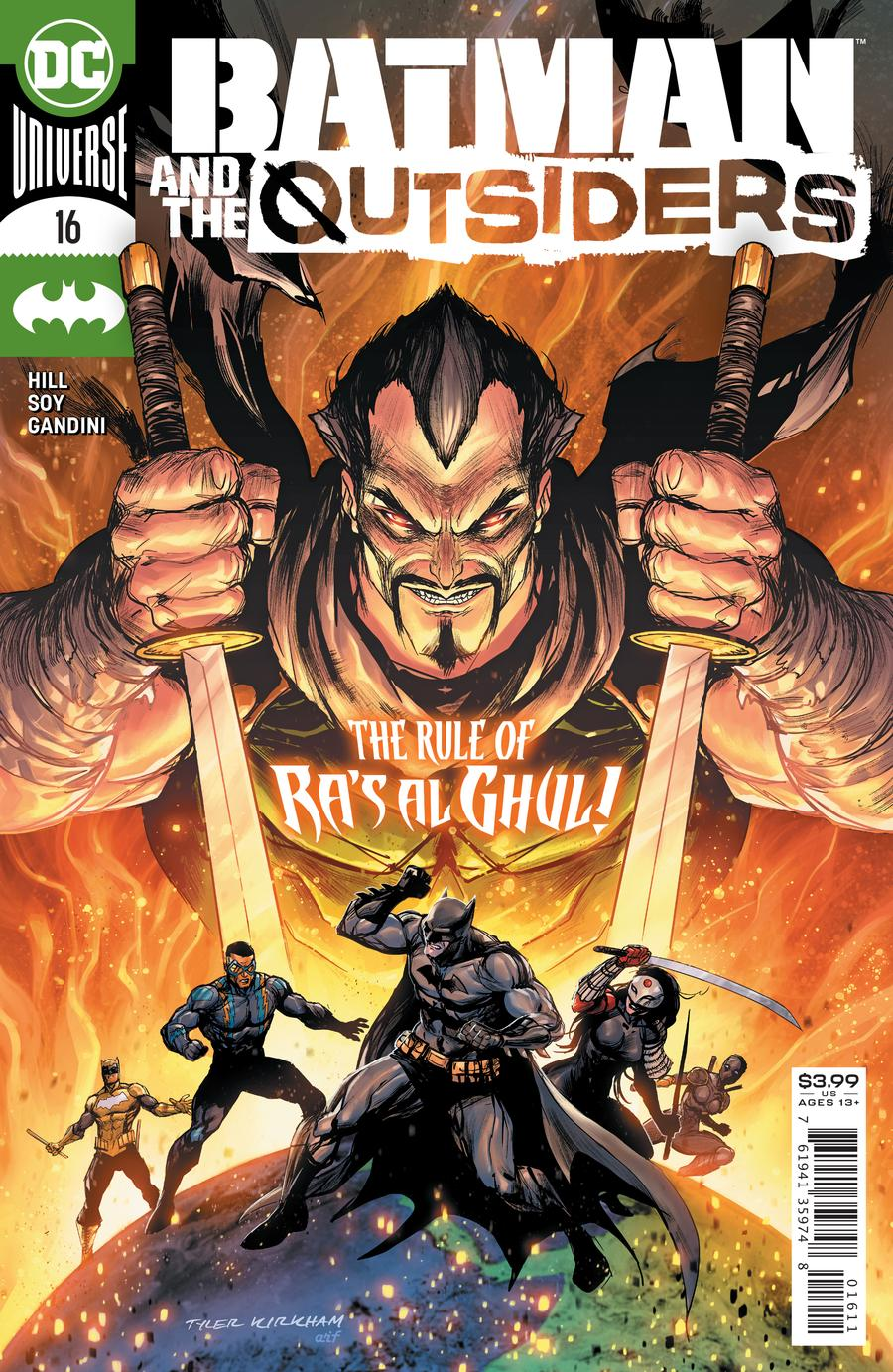 BATMAN & THE OUTSIDERS #16 COVER A TYLER KIRKHAM