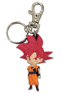 DRAGON BALL SUPER SD SSG GOKU 01 PVC KEYCHAIN