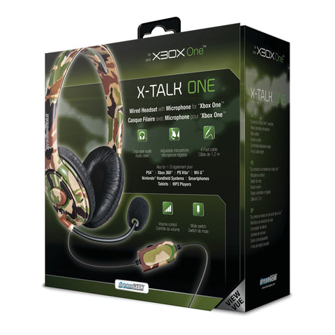 Headset DreamGear X-Talk Wired Headset: Camo for Xbox One