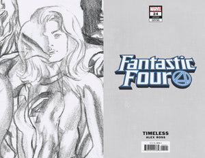 FANTASTIC FOUR #24 INVISIBLE WOMAN TIMELESS VIRGIN SKETCH VAR 1:100