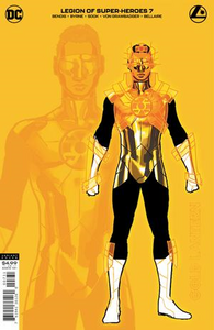 LEGION OF SUPER HEROES #7 INC 1:25 RYAN SOOK GOLD LANTERN CARD STOCK VAR