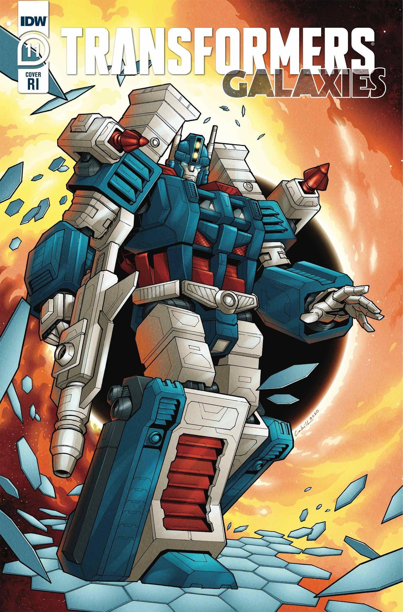 TRANSFORMERS GALAXIES #11 1:10 RATIO VARIANT CAHILL