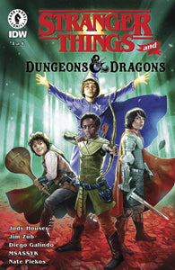 STRANGER THINGS D&D CROSSOVER #1 COVER C GALINDO