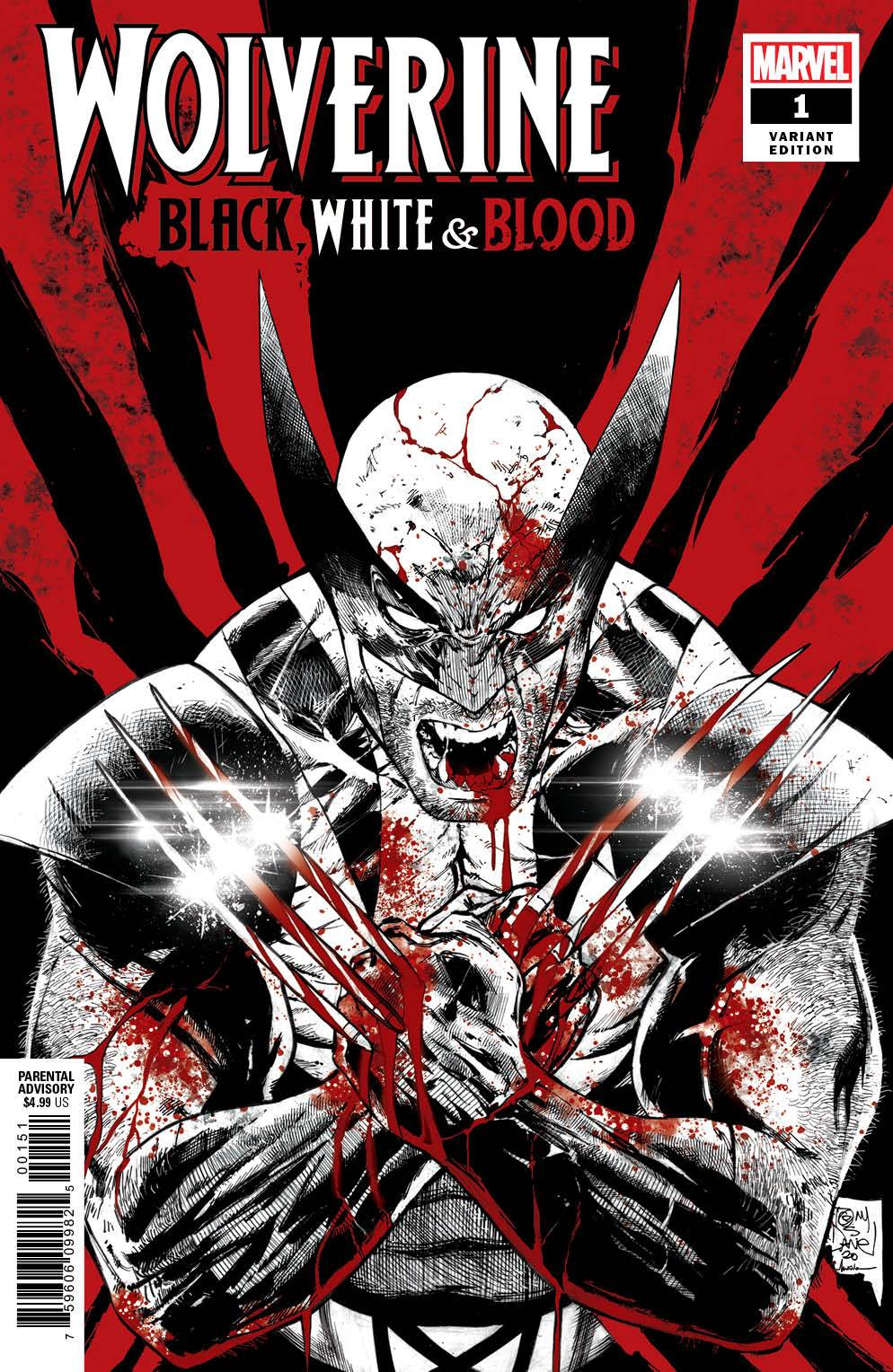 WOLVERINE BLACK WHITE BLOOD #1 DANIEL 1:25 VARIANT