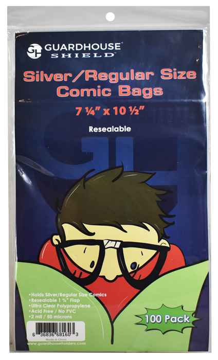 Guardhouse Resealable Shield Bag for Silver/Regular Comic Books