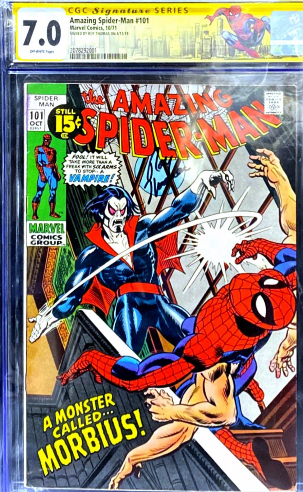 Amazing Spider-Man 101 CGC Signature Series 7.0