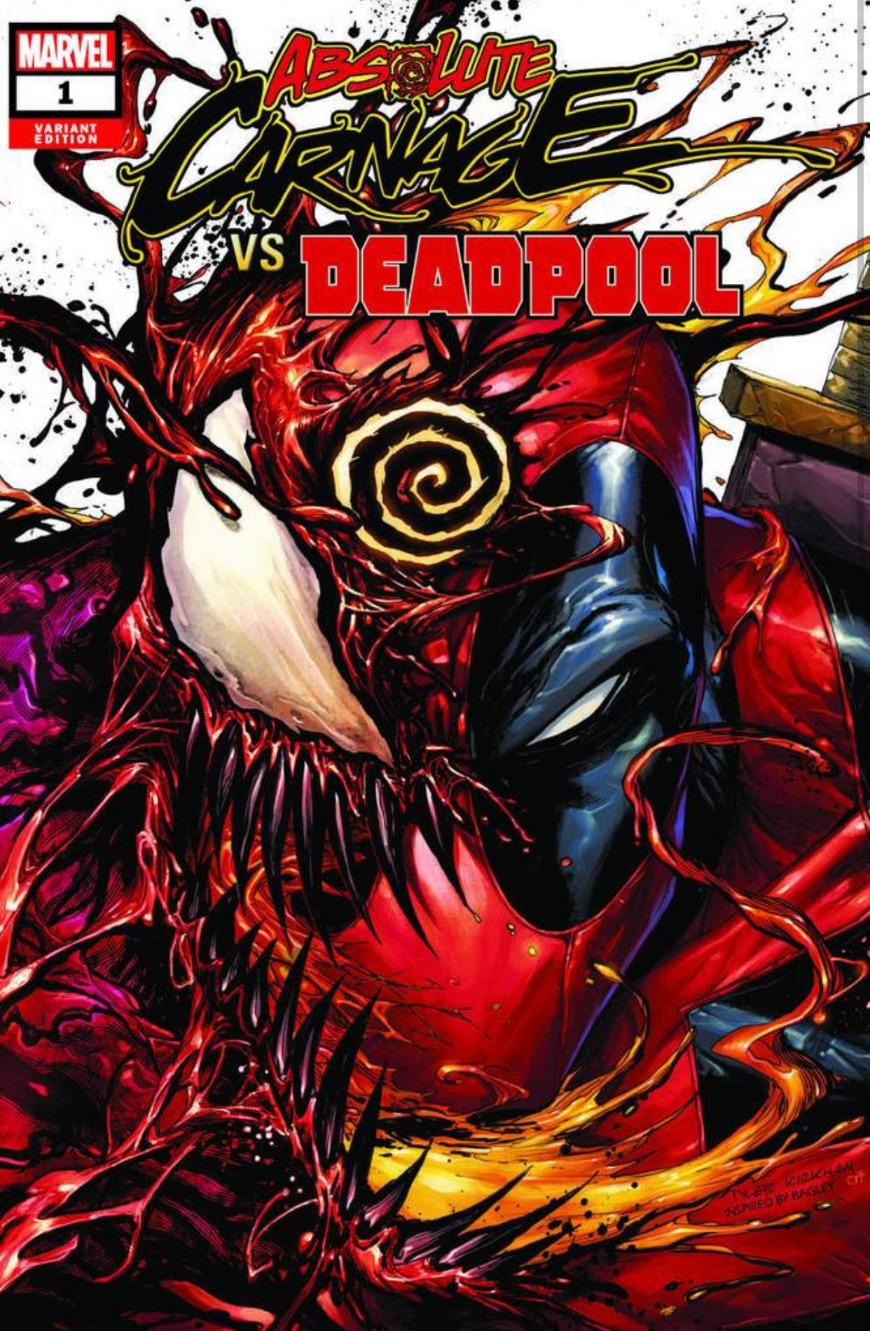 ABSOLUTE CARNAGE VS DEADPOOL #1 TYLER KIRKHAM VARIANT