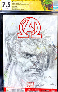 New Avengers 1 CGC Signature Series 7.5