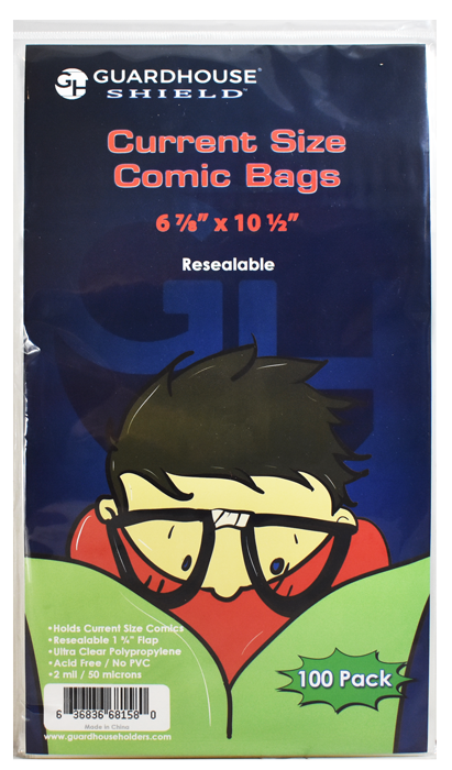 Guardhouse Resealable Shield Bag for Current Comic Books