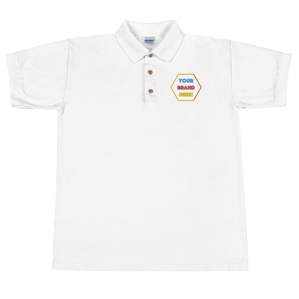 Polo Shirt geborduurd - men