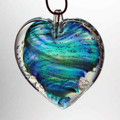 Memorial Glass Heart/Oval Sun Catcher