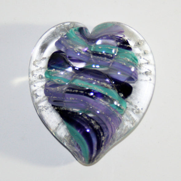 Memorial Glass Paw Print Touchstone