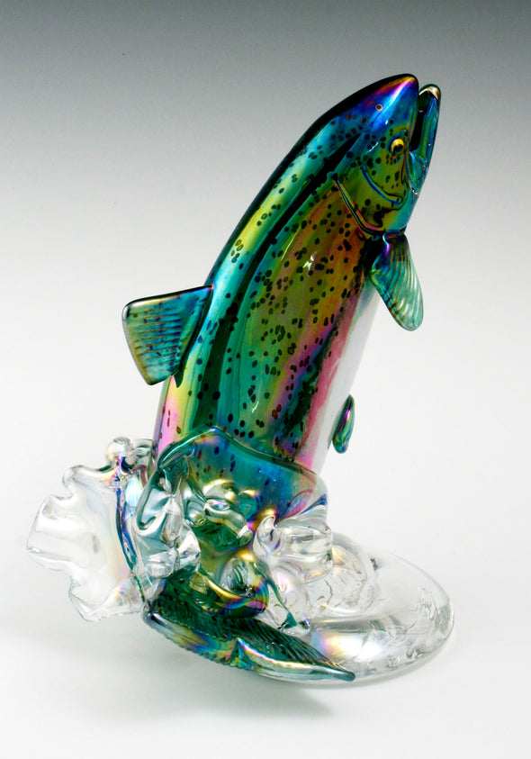 Leaping Trout/Salmon Sculptures
