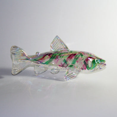 Memorial Glass Trout/Salmon Sculpture