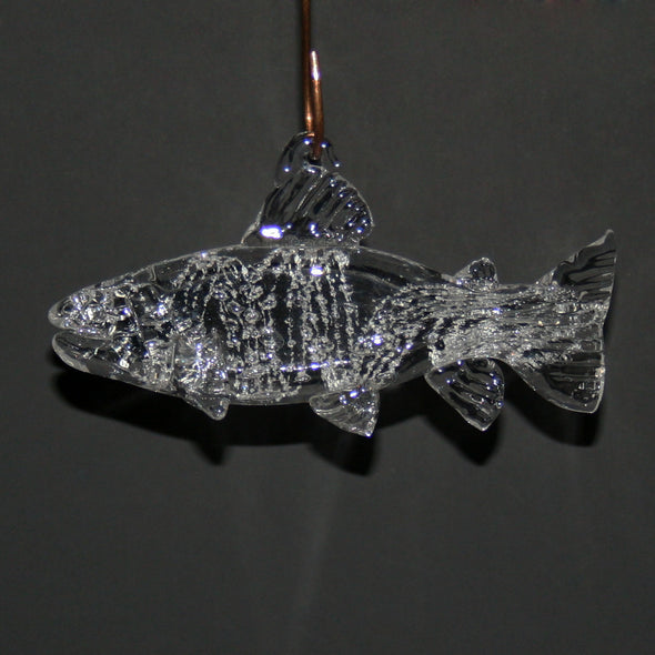 Memorial Glass Trout/Salmon Sun Catcher