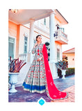 Off White Color Silk Anarkali Suits with Chiffon Dupatta
