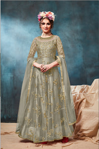 Pastle Sea Green Color Net With Satin inner Anarkali Suits with Net Dupatta - Dani Fashions