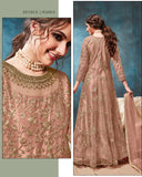 Orange Color Net With Satin inner Anarkali Suits with Net Dupatta