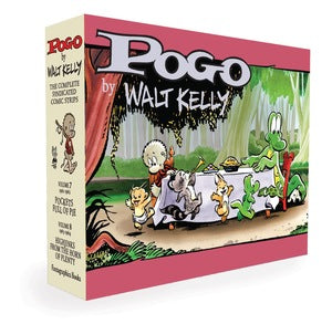 Pogo The Complete Syndicated Comic Strips Box Set: Vols. 7 & 8: Pockets Full of Pie & Hijinks from the Horn of Plenty