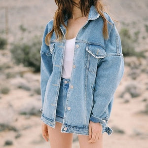 Winter Bomber Jeans Jacket