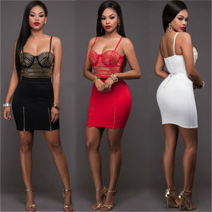 Two Piece Sleeveless Bodycon